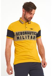 Aeronautica Militare - POLO AERONAUTICA MILITARE. Typ kołnierza: polo. Wzór: jednolity, nadruk. Styl: sportowy