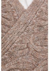 Y.A.S - Kardigan. Okazja: na co dzień. Kolor: beżowy. Materiał: włókno, materiał. Długość rękawa: długi rękaw. Długość: długie. Wzór: ze splotem. Styl: casual