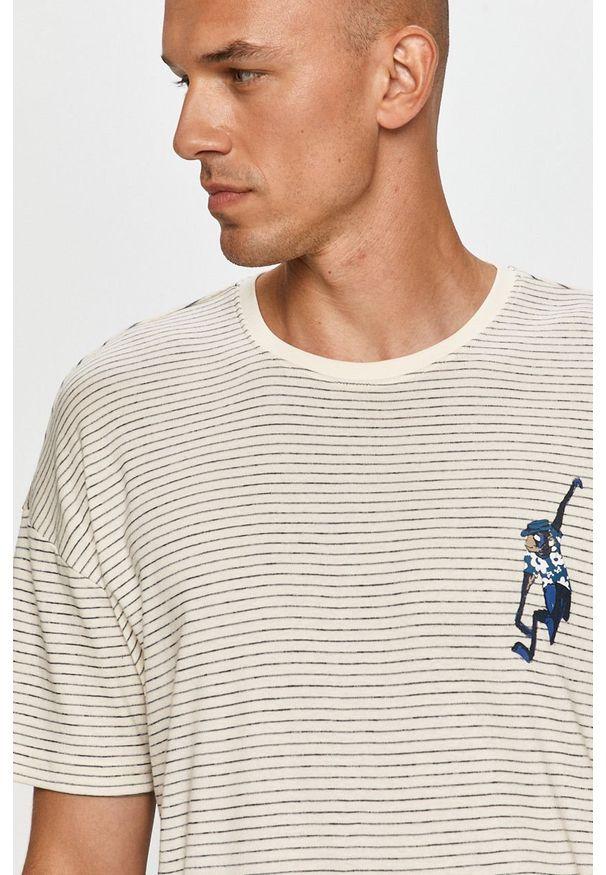 Niebieski t-shirt Only & Sons casualowy, na co dzień