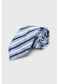 BOSS - Boss - Krawat. Kolor: niebieski. Materiał: materiał
