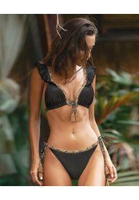 DEL MAAR - Top od bikini Yana. Kolor: czarny. Materiał: tkanina, materiał