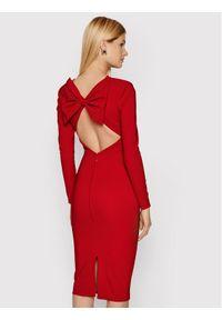 Elisabetta Franchi Sukienka koktajlowa AB-008-16E2-V380 Czerwony Slim Fit. Kolor: czerwony. Styl: wizytowy