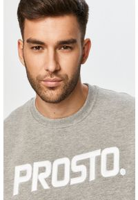 Szara bluza nierozpinana Prosto. casualowa, z okrągłym kołnierzem