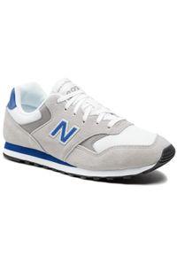 New Balance - Sneakersy NEW BALANCE - ML393VY1 Szary. Okazja: na spacer, na co dzień. Kolor: szary. Materiał: skóra, zamsz. Szerokość cholewki: normalna. Styl: elegancki, sportowy, casual. Sport: turystyka piesza