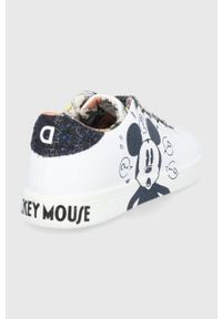 Desigual - Buty x Disney. Nosek buta: okrągły. Zapięcie: sznurówki. Kolor: biały. Materiał: guma. Wzór: motyw z bajki