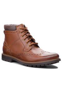 Brązowe buty zimowe Clarks