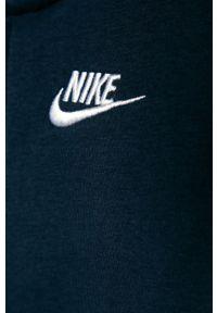 Niebieska bluza rozpinana Nike Kids casualowa, na co dzień, z kapturem