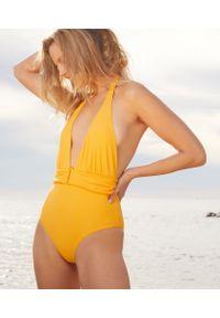 Złoty strój kąpielowy jednoczęściowy Etam