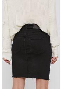 Noisy may - Noisy May - Spódnica jeansowa. Kolor: czarny. Materiał: jeans