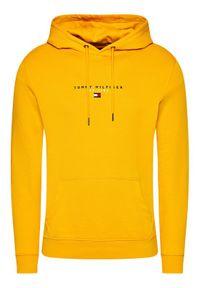 TOMMY HILFIGER - Tommy Hilfiger Bluza Essential MW0MW17382 Żółty Regular Fit. Kolor: żółty