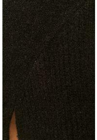 Czarny sweter Silvian Heach z długim rękawem, długi, klasyczny