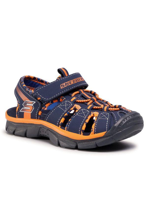 Niebieskie sandały skechers klasyczne, na lato