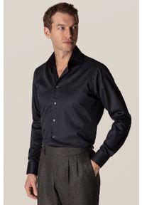Eton - ETON - Koszula. Typ kołnierza: kołnierzyk klasyczny. Kolor: czarny. Materiał: tkanina. Długość rękawa: długi rękaw. Długość: długie. Wzór: gładki. Styl: klasyczny