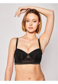 Czarny biustonosz bardotka Calvin Klein Underwear