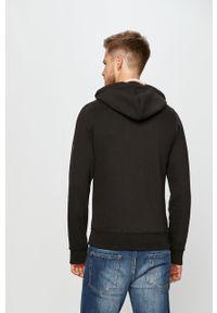 Czarna bluza rozpinana Premium by Jack&Jones z kapturem, casualowa, na co dzień