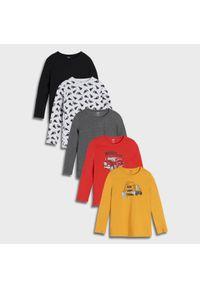 Sinsay - Koszulki 5 pack - Żółty. Kolor: żółty