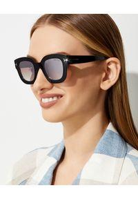 Tom Ford - TOM FORD - Okulary przeciwsłoneczne Pia. Kolor: czarny. Wzór: gradientowy