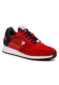 Czerwone sneakersy Togoshi z cholewką, na co dzień