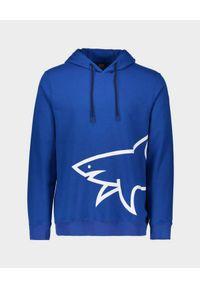 PAUL & SHARK - Niebieska bluza z kapturem. Typ kołnierza: kaptur. Kolor: niebieski. Materiał: bawełna, jeans. Długość rękawa: długi rękaw. Długość: długie. Styl: klasyczny, sportowy