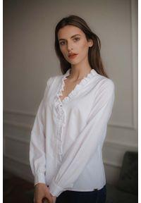 Biała bluzka z długim rękawem Figl