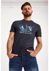 Armani Exchange - T-SHIRT ARMANI EXCHANGE. Długość rękawa: krótki rękaw. Długość: krótkie. Wzór: nadruk