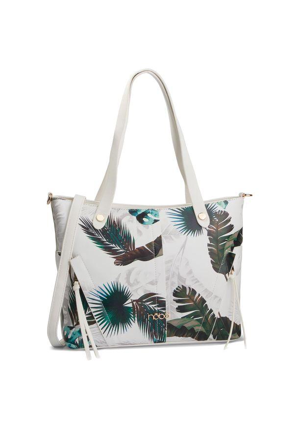 Biała torebka klasyczna Nobo klasyczna, w kolorowe wzory