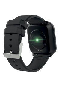 Czarny zegarek FOREVER smartwatch, młodzieżowy