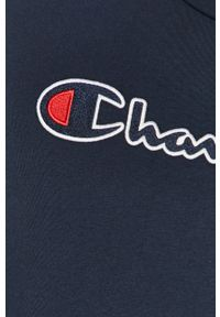 Niebieska koszulka z długim rękawem Champion casualowa, z aplikacjami, na co dzień