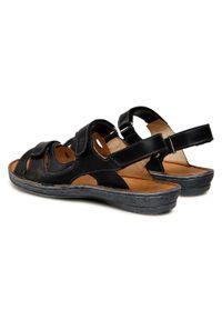 Łukbut - Sandały ŁUKBUT - 637-001 Czarny. Kolor: czarny. Materiał: skóra. Sezon: lato #3