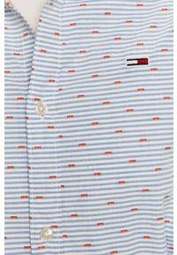 Niebieska koszula Tommy Jeans z długim rękawem, klasyczna, długa