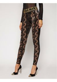 Brązowe legginsy Versace Jeans Couture