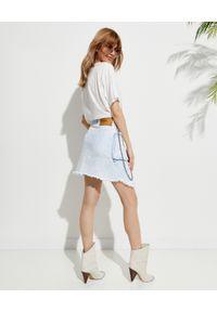 ONETEASPOON - EDYCJA LIMITOWANA OneTeaspoon x Moliera 2 - Spódnica mini Chain. Okazja: na co dzień. Kolor: niebieski. Materiał: bawełna, jeans. Wzór: aplikacja. Styl: casual