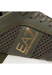 Zielone półbuty EA7 Emporio Armani casualowe, z cholewką