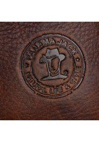 Brązowe botki Panama Jack na obcasie, na średnim obcasie