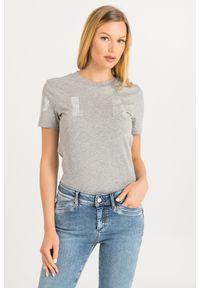 T-shirt Sportmax Code casualowy, w kolorowe wzory, na co dzień