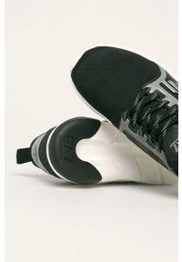Czarne sneakersy EA7 Emporio Armani na sznurówki, z cholewką