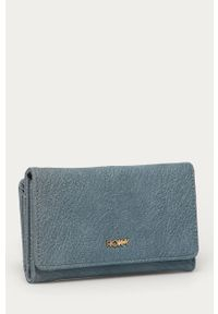 Turkusowy portfel Roxy gładki