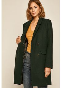 Zielony płaszcz medicine na co dzień, bez kaptura