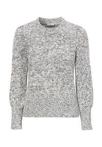 Freequent Sweter Cotti złamana biel Czarny female biały/czarny XL (44). Kolor: biały, czarny, wielokolorowy. Długość rękawa: długi rękaw. Długość: długie. Wzór: melanż