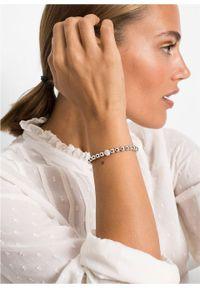 Bransoletka z kryształami Swarovskiego® bonprix srebrny kolor rodowany
