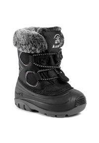 Czarne buty zimowe Kamik z cholewką
