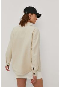 Kremowa kurtka Vero Moda gładkie, bez kaptura