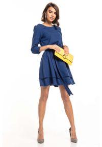Niebieska sukienka wizytowa Tessita