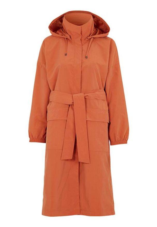 Cellbes Parka z paskiem do wiązania rdzawy female brązowy/pomarańczowy 42/44. Kolor: pomarańczowy, brązowy, wielokolorowy. Długość: długie. Wzór: aplikacja. Styl: sportowy