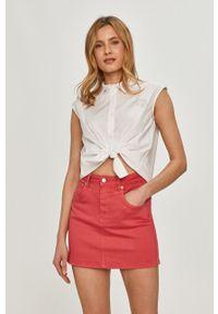 Love Moschino - Koszula. Kolor: biały. Długość rękawa: krótki rękaw. Długość: krótkie