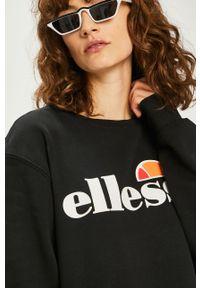 Czarna bluza Ellesse bez kaptura, z nadrukiem, casualowa, na co dzień