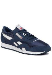 Niebieskie buty sportowe Reebok z cholewką, Reebok Nylon, na co dzień