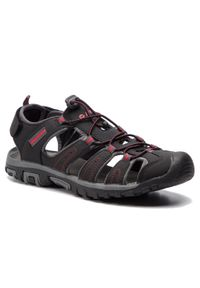 Czarne sandały trekkingowe Hi-tec na lato