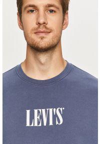 Levi's® - Levi's - Bluza. Okazja: na spotkanie biznesowe. Kolor: niebieski. Wzór: nadruk. Styl: biznesowy