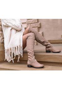 Kozaki Zapato eleganckie, z cholewką za kolano